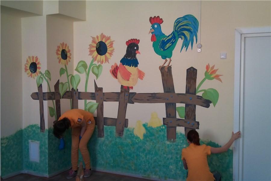 Оформить стену в детском саду своими руками