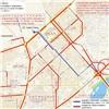 Схема движения красноярских автобусов в день Олимпийской эстафеты (предоставлена мэрией Красноярска)
