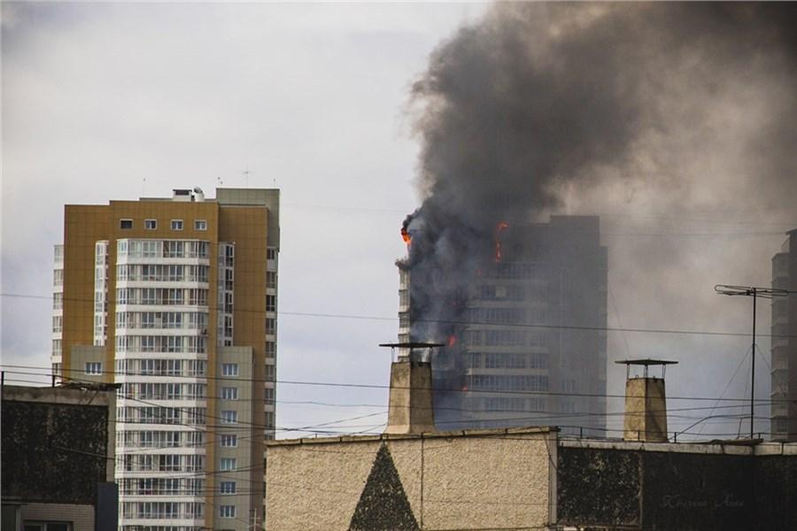 Сгорел жилой дом