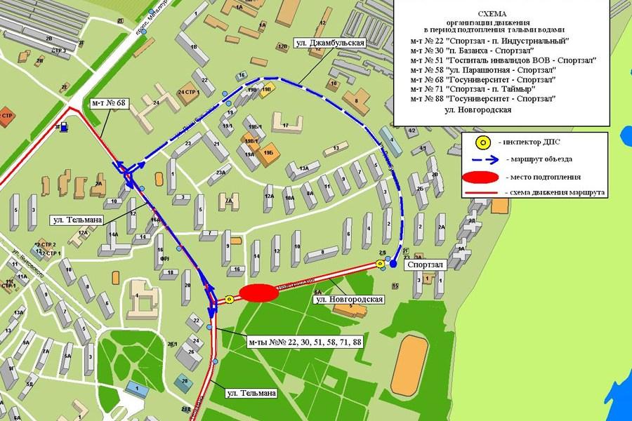 схема маршрута 58 — схема